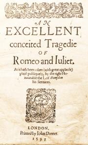 Romeo and Juliet 1st Quarto.